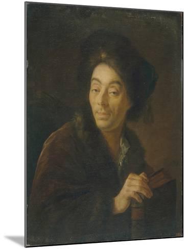 Portrait of the Actor Yakov Danilovich Shumsky (1732-181), 1760-Anton Pavlovich Losenko-Mounted Giclee Print