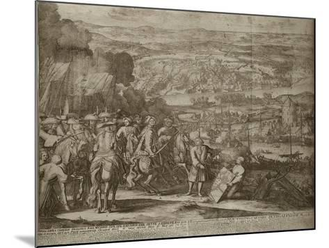 Siege of the Turkish Fortress Azov by Russian Forces in 1696, Um 1700-Adriaan Schoonebeek-Mounted Giclee Print