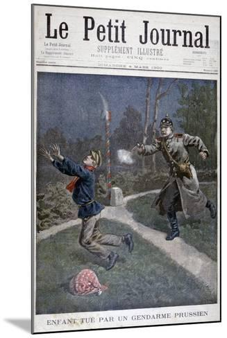 A Boy Shot by a Prussian Gendarme Escaping from a Correctional Facility, 1900--Mounted Giclee Print