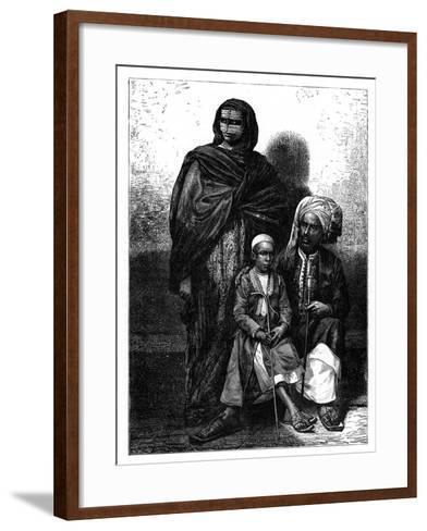 Zanzibar Arab Family, C1890--Framed Art Print