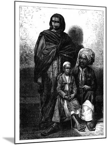 Zanzibar Arab Family, C1890--Mounted Giclee Print
