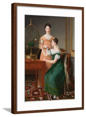 Mendel Levin Nathanson's Elder Daughters, Bella and Hanna, 1820-Christoffer-wilhelm Eckersberg-Framed Art Print