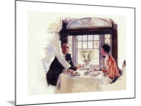 Dinner Serivce on the B&O-Dan Content-Mounted Giclee Print