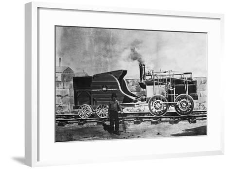 Seguin's Locomotive 1827--Framed Art Print