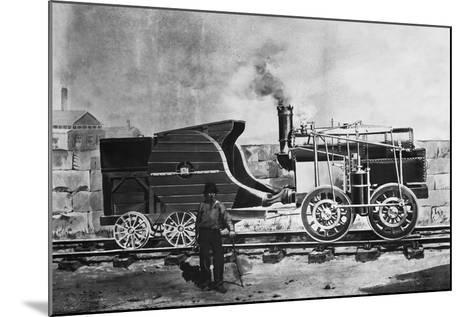 Seguin's Locomotive 1827--Mounted Giclee Print
