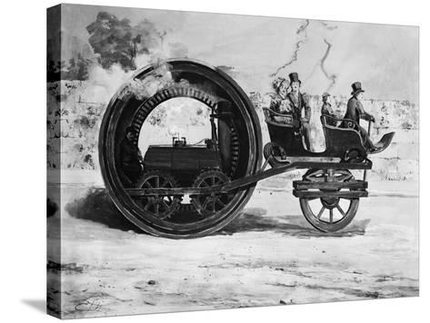 The Evolution of the Train--Stretched Canvas Print