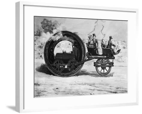 The Evolution of the Train--Framed Art Print