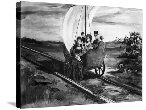 The Sail Car--Stretched Canvas Print