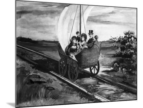 The Sail Car--Mounted Giclee Print
