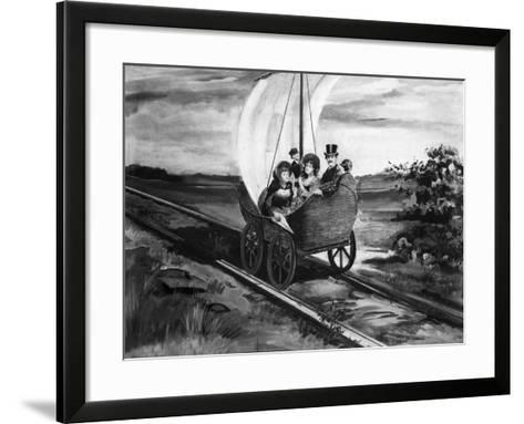 The Sail Car--Framed Art Print