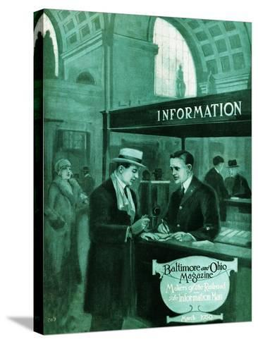The Information Man-Charles H. Dickson-Stretched Canvas Print