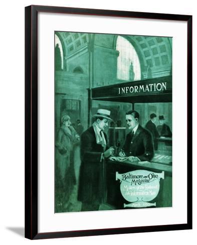 The Information Man-Charles H. Dickson-Framed Art Print