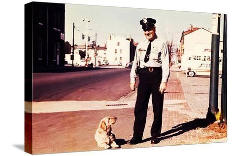 Suzie the Railroad Dog--Stretched Canvas Print