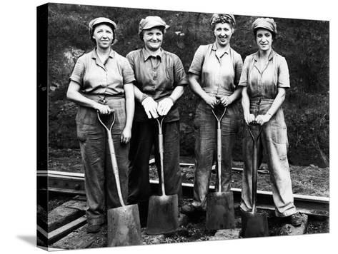 Women of the Rails: Track Work--Stretched Canvas Print