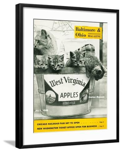 West Virginia Apples--Framed Art Print