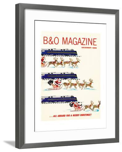 All Aboard for a Merry Christmas--Framed Art Print