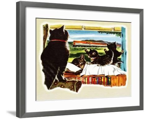 Here Comes Your Train, Chester-Charles Bracker-Framed Art Print