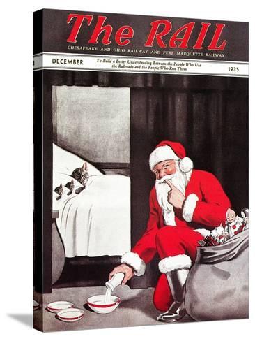 Santa's Gift-Charles Bracker-Stretched Canvas Print