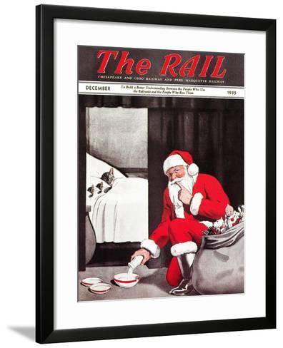 Santa's Gift-Charles Bracker-Framed Art Print