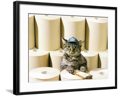 Chessie Taking Inventory--Framed Art Print