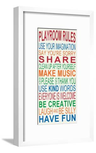 Playroom Rules-Erin Deranja-Framed Art Print