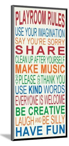 Playroom Rules-Erin Deranja-Mounted Art Print