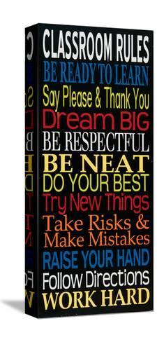 Classroom Rules-Erin Deranja-Stretched Canvas Print