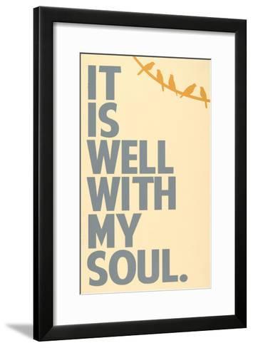 It Is Well-Erin Deranja-Framed Art Print
