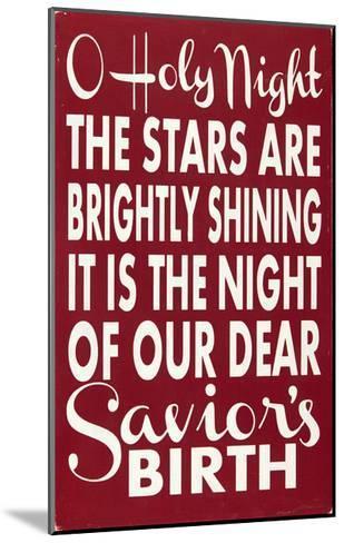 O Holy Night-Erin Deranja-Mounted Art Print