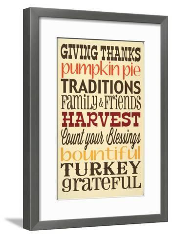 Giving Thanks-Erin Deranja-Framed Art Print