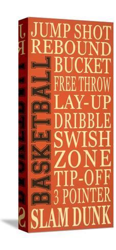 Basket-Ball-Erin Deranja-Stretched Canvas Print