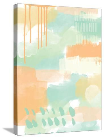 Abstract II-Linda Woods-Stretched Canvas Print