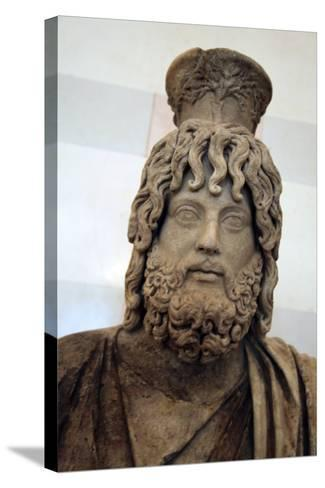 Statue of Serapis, Greco - Egyptian God of the Underworld--Stretched Canvas Print