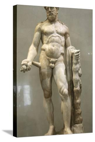 Statue of Heracles, 2nd Century--Stretched Canvas Print