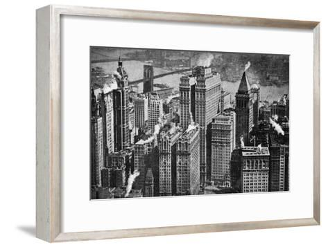 Looking Towards Brooklyn over the Skyscrapers of Broadway, New York City, USA, C1930S- Aerofilms-Framed Art Print