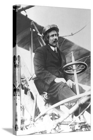 Samuel Franklin Cody (1862-191) in His Biplane--Stretched Canvas Print