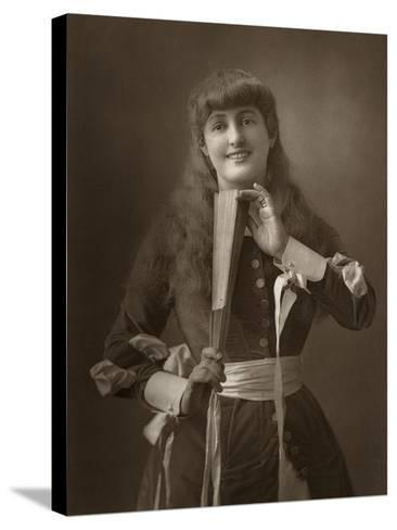 British Actress Alice Atherton in Oliver Grumble, 1886- Barraud-Stretched Canvas Print