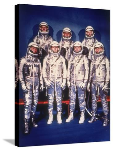 The Mercury Seven Astronauts, 1959--Stretched Canvas Print