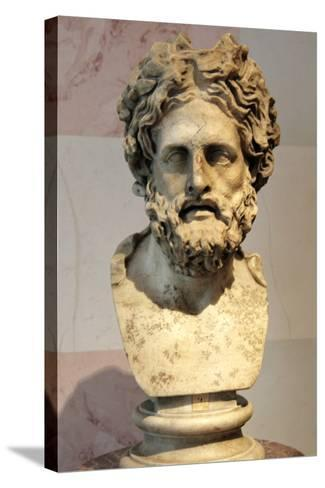 Head of Asklepios, Greek God of Healing--Stretched Canvas Print