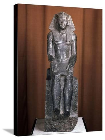 Statue of the Pharaoh Amenemhat III, 19th Century Bc--Stretched Canvas Print