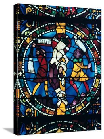 The Flagellation, Stained Glass, Chartres Cathedral, France, 1194-1260--Stretched Canvas Print