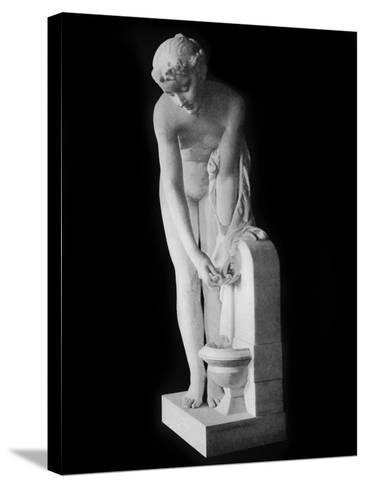 Girl at the Fountain, 19th Century-Alexandre Schoenewerk-Stretched Canvas Print