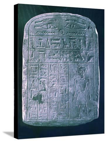 Votive Stele Dedicated by His Brother to a Man from Ermant, Near Thebes, Ancient Egypt--Stretched Canvas Print