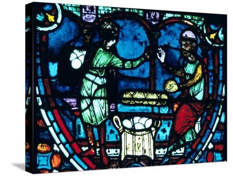 The Bakers, Stained Glass, Chartres Cathedral, France, 1194-1260--Stretched Canvas Print