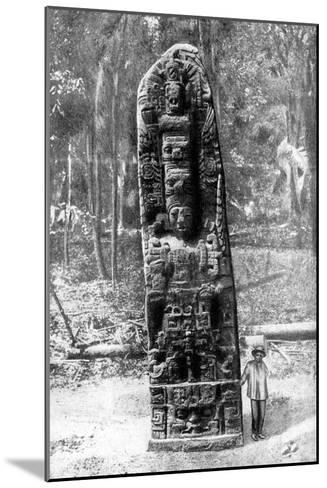 A Mystery Monolith in the Primeval Forest of Quirigua, Guatemala, 1922-Alfred P Maudsley-Mounted Giclee Print