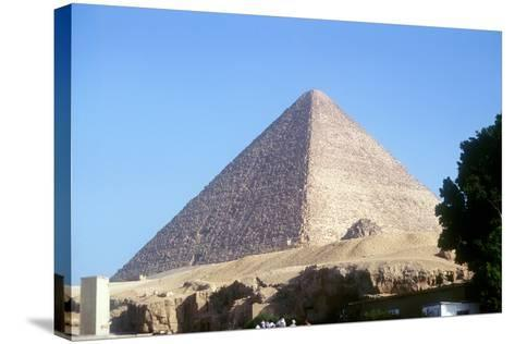 Great Pyramid of Cheops at Giza, Egypt, 4th Dynasty, Old Kingdom, 26th Century Bc--Stretched Canvas Print