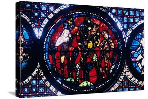 Adam and Eve (The Fall of Ma), Stained Glass, Chartres Cathedral, France, 1194-1260--Stretched Canvas Print