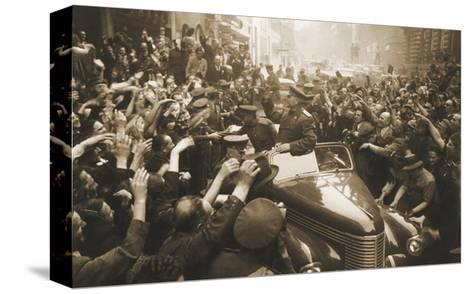 Victory Day Parade, Prague, Czechoslovakia, World War II, 1945-Anatoly Yegorov-Stretched Canvas Print