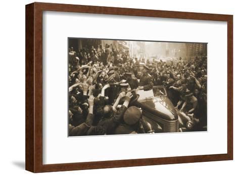 Victory Day Parade, Prague, Czechoslovakia, World War II, 1945-Anatoly Yegorov-Framed Art Print