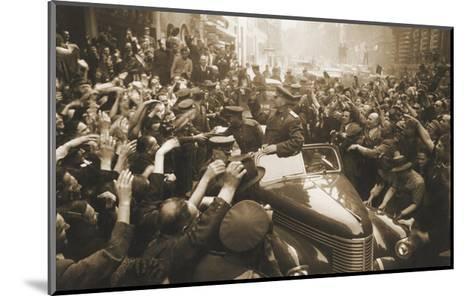 Victory Day Parade, Prague, Czechoslovakia, World War II, 1945-Anatoly Yegorov-Mounted Giclee Print